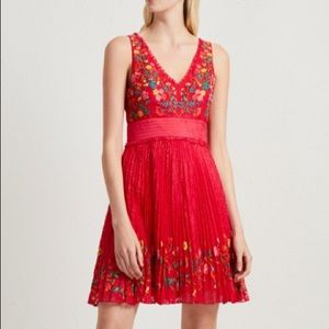 FRENCH CONNECTION Lace Embroidered Flare Dress